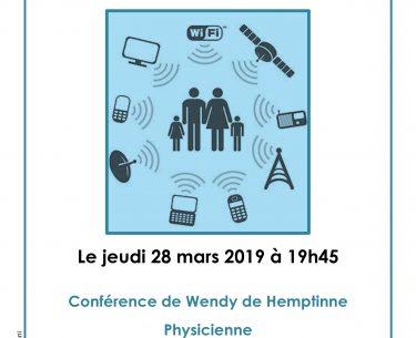 Conférence 28 mars 2019 : Technologies sans fil ? Et notre santé ?