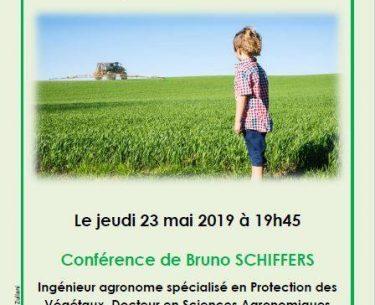 Conférence 23 mai 2019: Et si, l'air de rien, les pesticides exposaient nos enfants à un risque pour leur santé ?